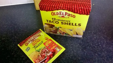 Taco shells and seasoning