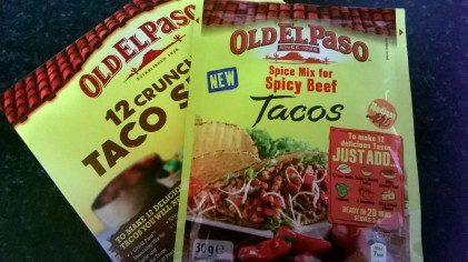 Taco shells and seasoning