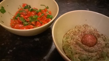 salsa and guacomole